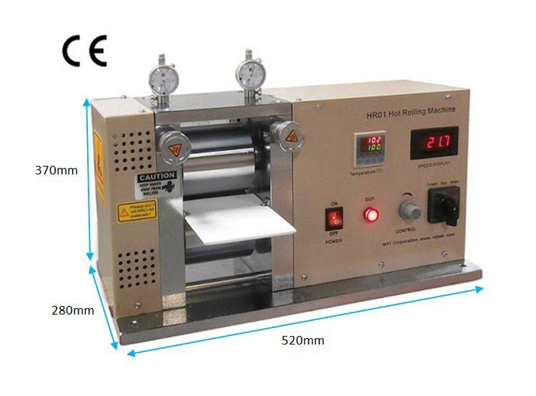 "Precision 4"" Hot Rolling Press / Calender up to 125°C - MS"
